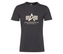 Print-Shirt graphit / weiß