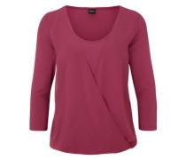 Wickeslhirt mit Blusen-Detail pink