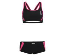 Sportbikini 'Hypnos' pink / schwarz
