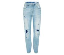 Boyfriend Jeans mit Low Waist blue denim