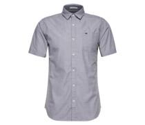 Kurzarmhemd mit Brusttasche taubenblau