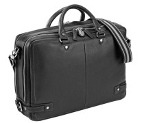 Origin Aktentasche Leder 41 cm Laptopfach schwarz