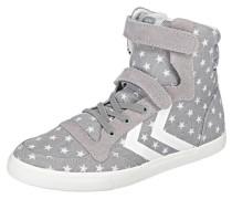 Sneakers High Star für Mädchen grau