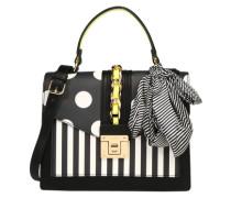 Handtasche 'glendaa' schwarz / weiß