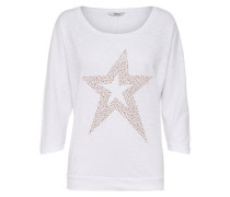 Sweatshirt 'onlBoomerang Summer Box' gold / weiß