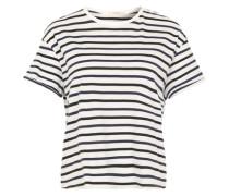 Gestreiftes T-Shirt weiß / schwarz