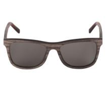 Sonnenbrille 'Justus' mit Gestell aus Holz dunkelbraun