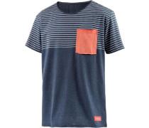 T-Shirt Herren marine / koralle