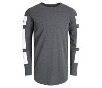 T-Shirt mit langen Ärmeln grau / weiß