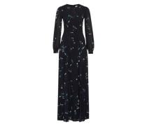 Maxi Dress 'Flower Print' schwarz