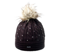 Bommelmütze Nana Lux Crystal braun