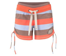 gestreifte Hotpants hellblau / braun / orange