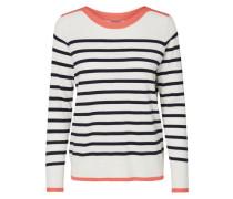 Pullover lachs / schwarz / offwhite