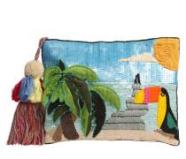 Textil-Clutch 'Strand' mischfarben