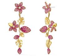 Ohrringe 'Tropical Flower' gold / rosa