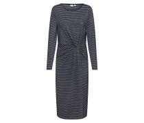 Kleid 'LS Knotwst Midi - Lurex' weiß / schwarz