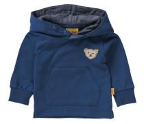 Baby Kapuzenpullover mit Kängurutasche für Jungen blau