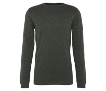 Pullover 'grindle basic plus crewneck' dunkelgrün