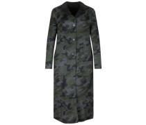 Mantel Revers grau / schwarz