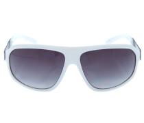 Sonnenbrille silber / weiß