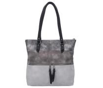 'Amelia' Shopper grau / schwarz
