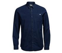 Klassisches Freizeithemd blau