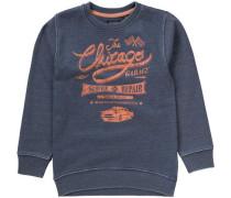 Sweatshirt für Jungen taubenblau / orange