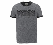 T-Shirt 'logo Tee' graumeliert / schwarz