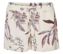 Blumen-Shorts flieder / perlweiß