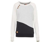 Sweatshirt 'daria Block' grau / schwarz