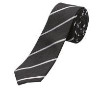 Seiden-Krawatte schwarz / weiß