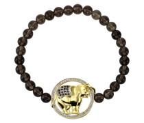 Armschmuck: Armband »Elefant« mit Rauchquarz und Weißtopas braun