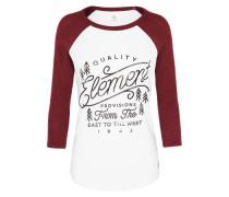 Sweatshirt 'Marie' burgunder / weiß