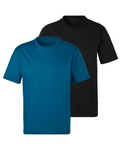 Shirts himmelblau / schwarz