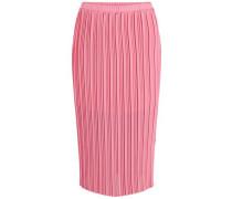 elastischer in Falten gelegter Midirock pink