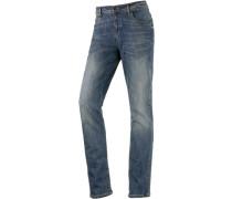 Straight Fit Jeans blau