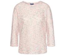 Pullover mit Struktur creme / rosa