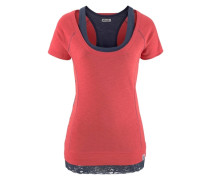 T-Shirt blau / rot