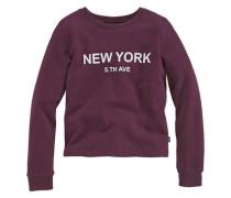Sweatshirt mit Frontdruck für Mädchen lila / rot