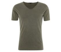 T-Shirt mit V-Ausschnitt 'Brady' khaki
