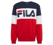 Sweatshirt rot / weiß / schwarz