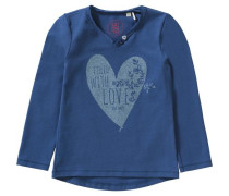 Langarmshirt für Mädchen blau
