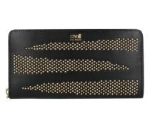 Class Zebra Show Geldbörse Leder 195 cm gold / schwarz