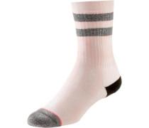 Sneakersocken Damen grau / rosa