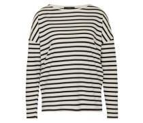 Shirt mit Streifen-Design weiß