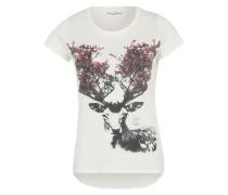 T-Shirt 'deer' weiß