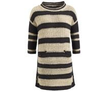 Pullover 'monza' dunkelbeige / schwarz