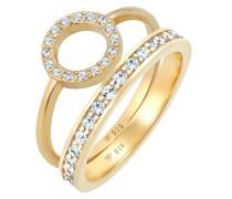 Ring Kreis Kristall Ring