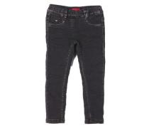 Treggings Skinny: Jeans mit Glitzer blau