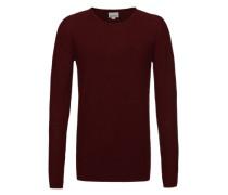 Longsleeve 'Basic pearl knit' rot
